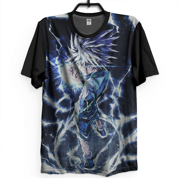 Camiseta Hunter X Hunter Killua Zoldyck Raio Dark Full Otaku