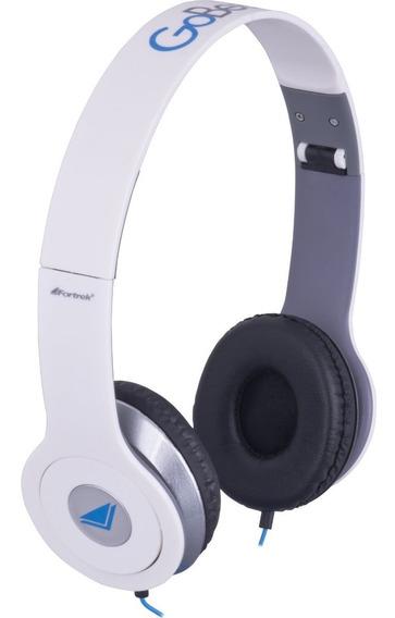 Fone Headphone Stereo Gobeats Fortrek Branco