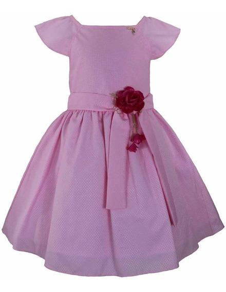Vestido Infantil Tam: 1 Ao 4 Rosa Katitus 1474