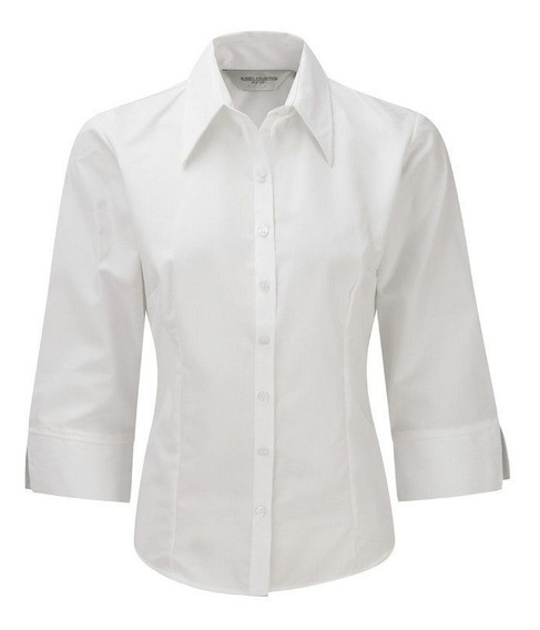 Camisas De Trabajo 3/4 X 6 U De Mujer Con Botones