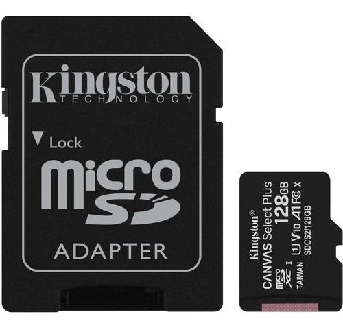 Cartão Memória Kingston Micro Sd Xc 128gb Canvas Select Plus