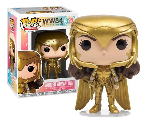 Boneco Funko Pop Ww84 Mulher Maravilha Golden Armor 323
