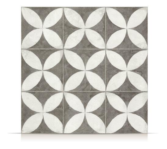 Ceramica San Lorenzo Flower White 45,3x45,3 1era!!