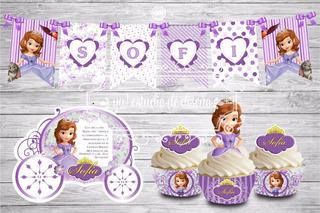 Tarjeta De Invitacion Princesa Sofia Carruaje En Mercado