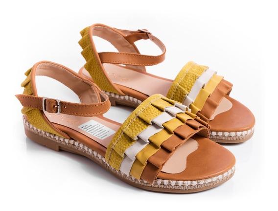 Sandalias Mujer Zapatos Chatitas En Cuero Super Comodas