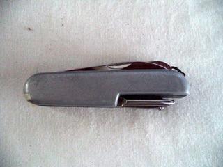 Canivete Metal Prateado Faca 10*