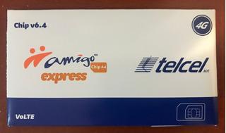 100 Chip Express Telcel Economico 4g Lte Lada 463, 449 Y 499