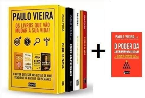 Box Paulo Vieira 4 Livros + O Poder Da Autorresponsabilidade