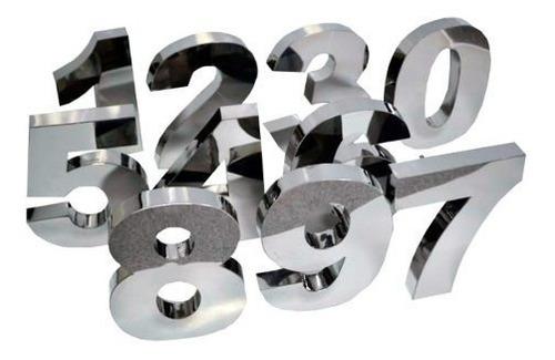 Letras Em Aço Inox Letreiro Caixa Números Fachada Placa 3d