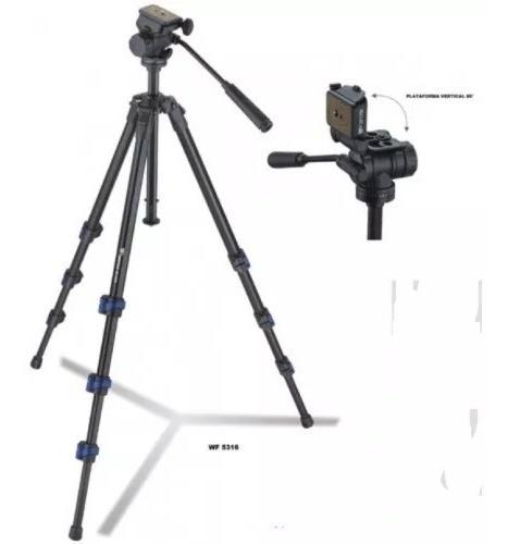 Tripé Profissional Wf5316 5316 C/bolsa / Triper P/ Camera