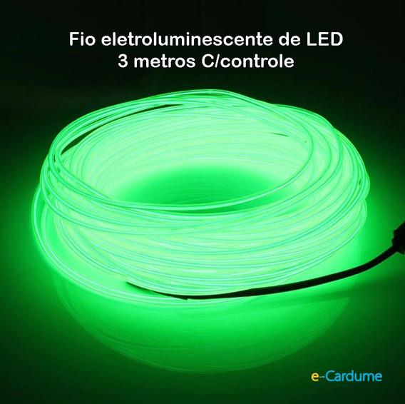 Fio De Luz Neon + Controle Acionador No Brasil