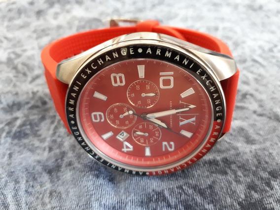 Relógio Original Armani Exchange Vermelho Ferrari