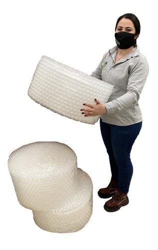 E Tres Rollos Plástico Burbuja Bomba Grande De 30cm X 25m