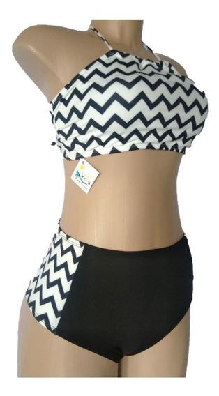 Biquíni Hotpant Com Top Cropped Cintura Alta