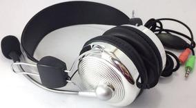 Fone Ouvido Super Bass Microfone Ajuste Volume Lan House