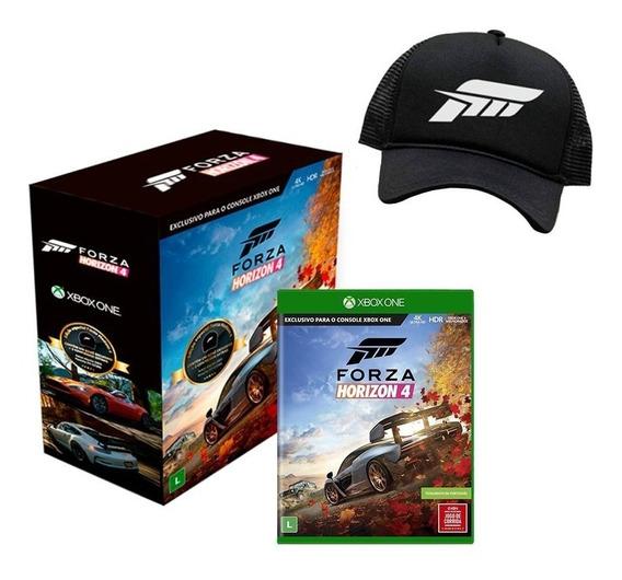 Forza Horizon 4 Edição Especial Com Boné + 2 Carros Extras Xbox One Mídia Física Novo Lacrado
