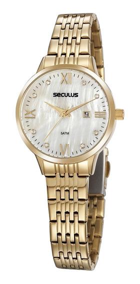 Relógio De Pulso Seculus Feminino 20840lpsvds1 - Dourado