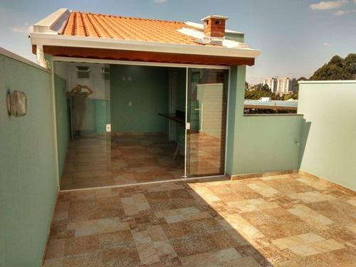 Imagem 1 de 22 de Cobertura Com 2 Dormitórios Para Alugar, 90 M² Por R$ 2.200/mês - Campestre - Santo André/sp - Co0378