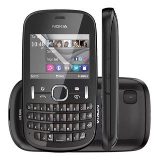 Celular Nokia Asha 201 P/retirada De Peças - Preto E Branco
