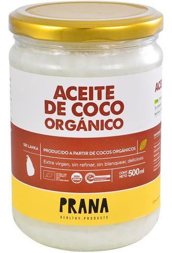 Aceite De Coco Orgánico Prana 500 Ml