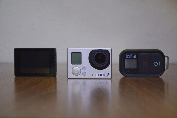 Gopro Hero 3+ Black 4k / Tela Lcd / Controle Wifi / + Itens