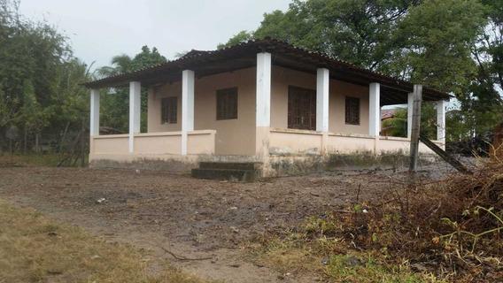 Casa Com Terraço Em C, 2 Quartos,wc, Cozinha Americana.