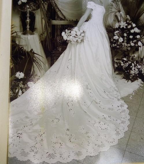 Vestido De Novia Corte Princesa, Manda Corta, Estilo Español