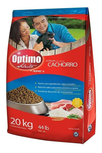 Imagen 1 de 1 de Alimento Para Perro Optimo Cachorro 20 Kg