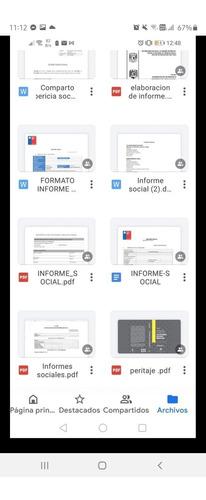 Informes Sociales (plantillas Editables)