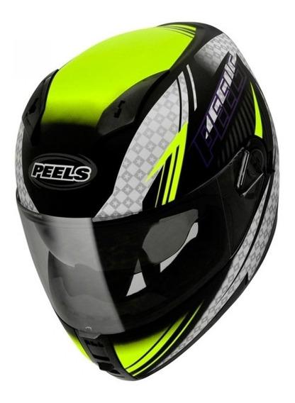 Capacete Moto Peels Icon Hawk Com Óculos Fumê Interno