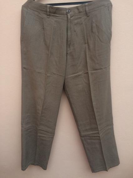 Pantalon Vestir Lino Hombre Newman Pinzado Talle 36 O 46