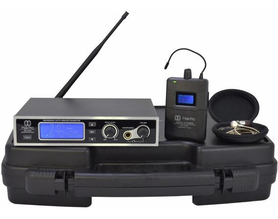 Sistema Monitor In Ear Retorno Palco Sem Fio Assistência Nf
