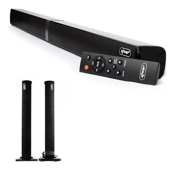 Caixa Slim Tv Smart Sound Bar Bluetooth 60w Rms Com Controle