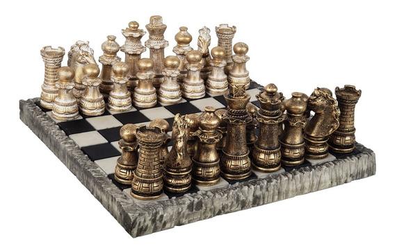 Jogo De Xadrez Temático Coleção Classica Original Resina