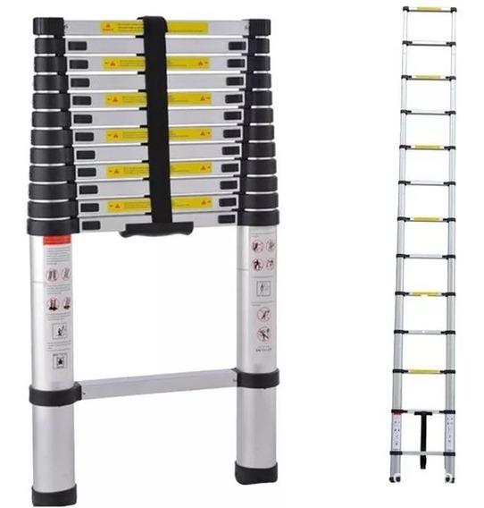 Escalera Telescópica Plegable Aluminio 5 Mts 150kgs C/envio