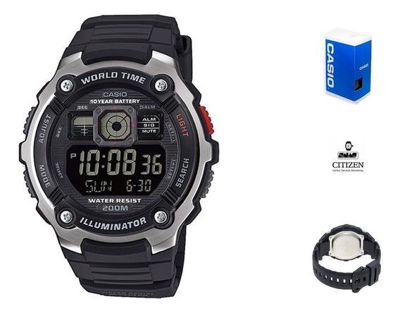 Reloj Casio Digital Ae2000 Hombre *watchsalas* Full
