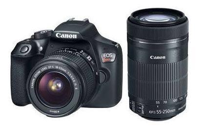 Camera Canon Rebel T6i + Lente 18-55