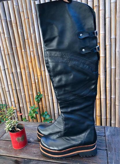 Botas Luciano Marra Talle 37 Cuero Negro