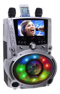 Parlante Karaoke Con Pantalla Gf758 + 2 Microfonos