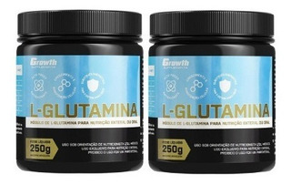 2 Pote L-glutamina 500g Growth Original Pronta Entrega
