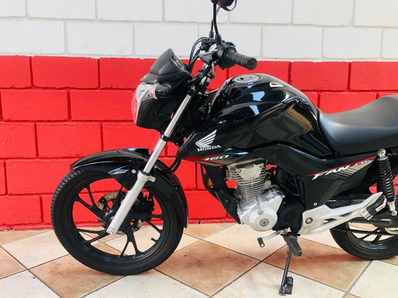 Honda Cg 160 Fan - 2019 - Preta - Km 2.000 - Financiamos