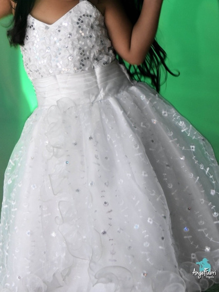 Vendo Vestido Blanco De Niña