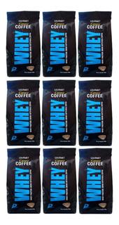 Kit Whey Concentrado Cafe Late Performance Nutrition 700g 9u