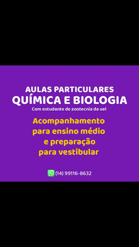 Aulas Particulares De Biologia E Química