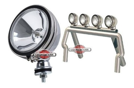 Farol Off Road Milhas 6 Triciclo Jeep Pick Up Buggy Fusca