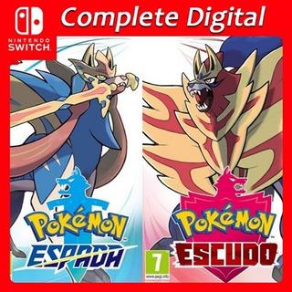 Pokémon Shield Escudo + Sword Espada Nintendo Switch Digital