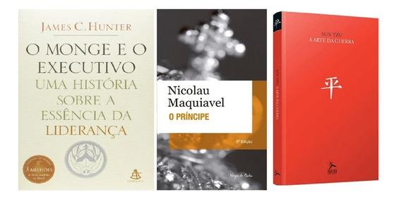 Arte Da Guerra + Príncipe + Monge E O Executivo Kit 3 Livros