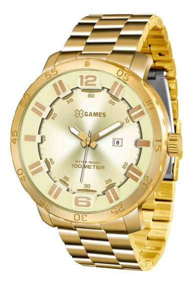 Relógio Xgames Masculino Xmgs1022 C2kx Dourado Grande