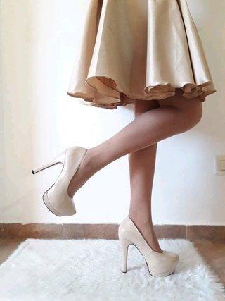 Zapatos Mujer Clasicos Nude Charol