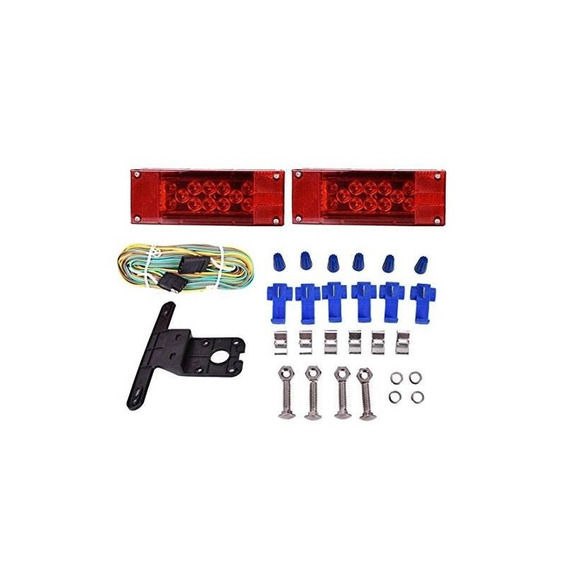 Czc Auto 12v Led De Perfil Bajo Sumergible Rectangular Kit D